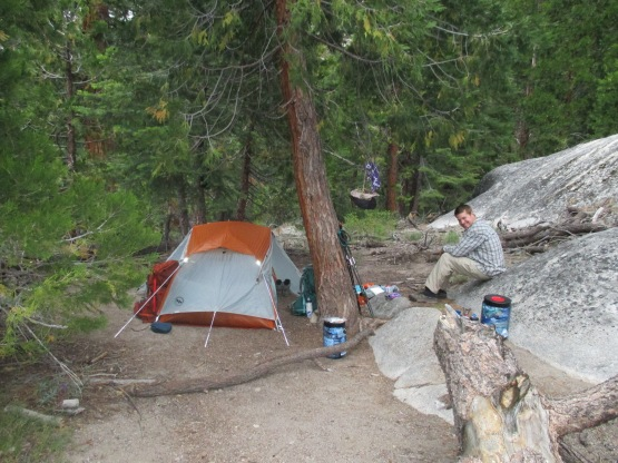 Campsite on night 1. Iva Bell Hot Springs.