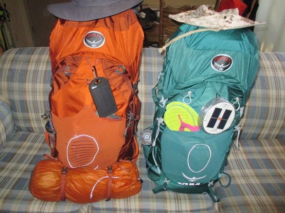Our packs loaded up and ready to go.